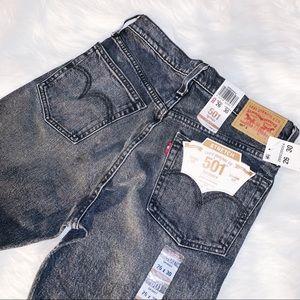 Levi's • 501 Black Wash Skinny 26